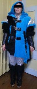 Kleid blau-schwarz Gruppe 36 Stk. (+ für 4Stk. Stoff)