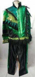 Kleid grün-schwarz Einzelstück Nr. 138