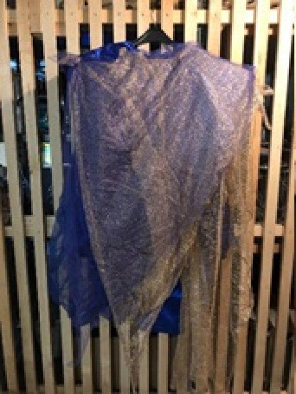 Kleid blau-gold Gr. L