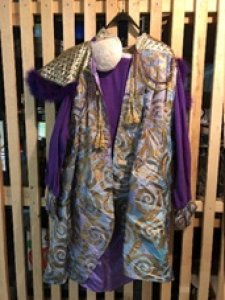 Kleid Violett Einzelstück Gr. M