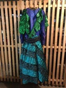 Kleid blau-grünes Einzelstück Gr. M