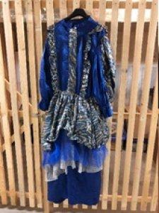 Kleid blaues Einzelstück Gr. M