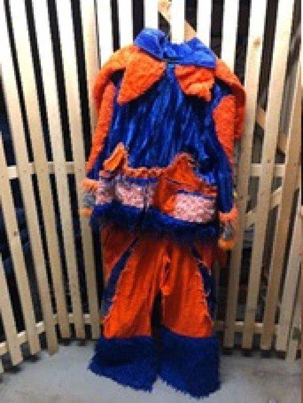 Kleid oranges 2 teiliges Kleid Einzelstücke Gr. M